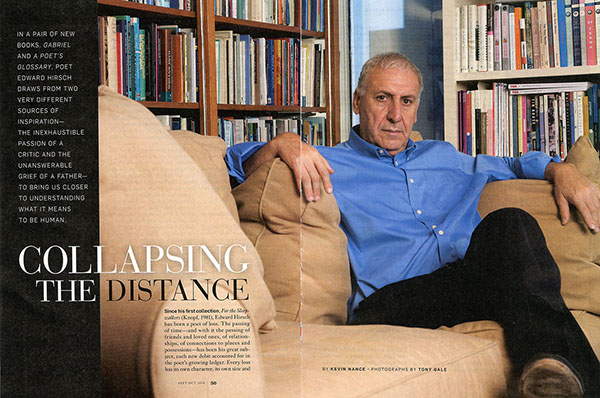 Edward Hirsch in Poets and Writers magazine. ©Tony Gale