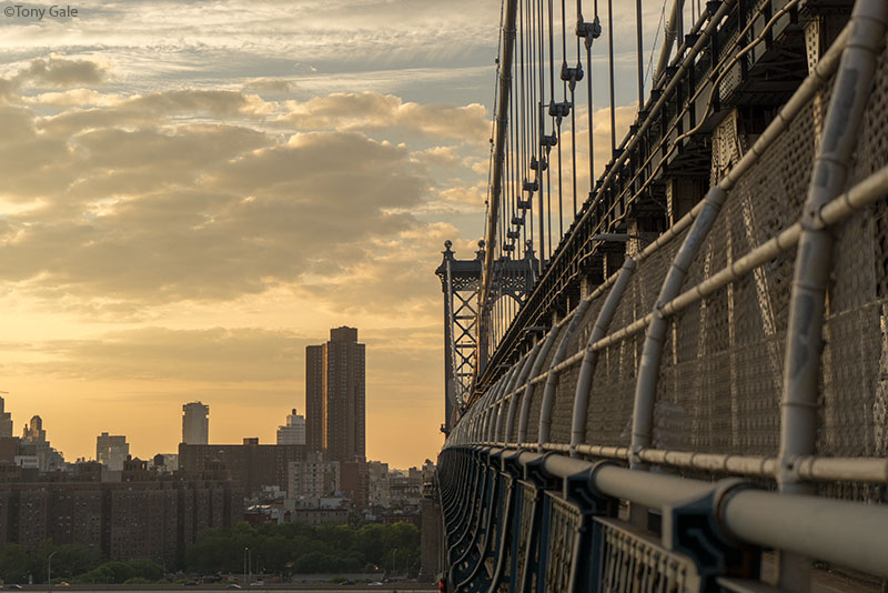 Manhattan Bridge at sunset ©Tony Gale