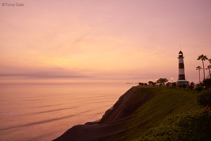Lighthouse in Miraflores, Lima, Peru ©Tony Gale